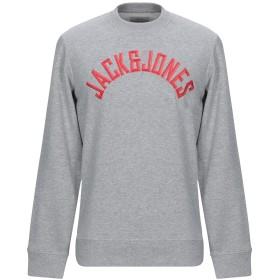 《期間限定セール開催中!》JACK & JONES ORIGINALS メンズ スウェットシャツ ライトグレー S コットン 80% / ポリエステル 20%