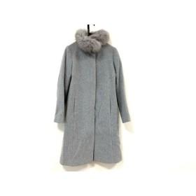 【中古】 バーニーズ BARNEYSNEWYORK コート サイズ38 M レディース グレー ファー/冬物