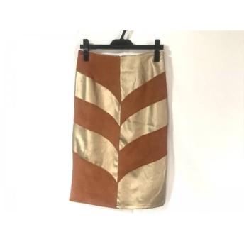 【中古】 グレースコンチネンタル ロングスカート サイズ38 M レディース 美品 オレンジ ゴールド