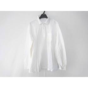 【中古】 ダンヒル dunhill/ALFREDDUNHILL 長袖ポロシャツ サイズL メンズ 白 ライトグレー sport