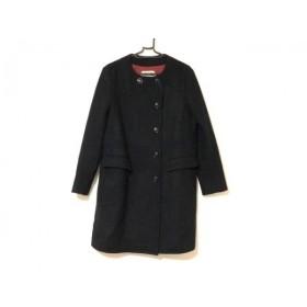 【中古】 シンゾーン Shinzone コート サイズ36 S レディース 美品 黒 冬物