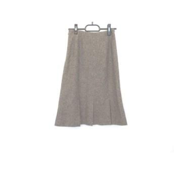 【中古】 ヴァンドゥ オクトーブル 22OCTOBRE スカート サイズ36 S レディース ブラウン