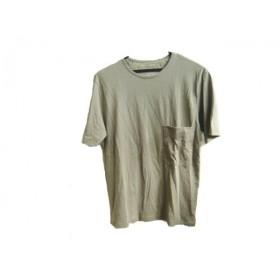 【中古】 ユニクロアンドルメール UNIQLOANDLEMAIRE 半袖Tシャツ サイズS レディース カーキ