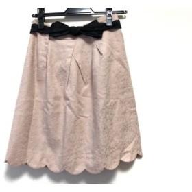 【中古】 アプワイザーリッシェ Apuweiser-riche スカート サイズ2 M レディース ピンク ジャガード