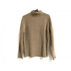 【中古】 ロベルトコリーナ 長袖セーター サイズ48 M メンズ ライトブラウン 黒 ハイネック