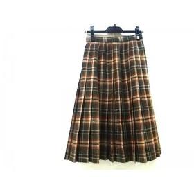 【中古】 ダックス DAKS スカート サイズ66-92 レディース グリーン レッド マルチ