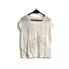 【中古】 ロンハーマン Ron Herman 半袖Tシャツ サイズXS レディース 白 シルバー ラメ