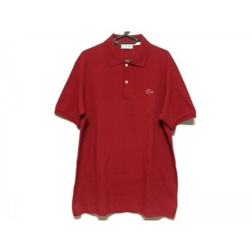 【中古】 ラコステ Lacoste 半袖ポロシャツ サイズ5 XS レディース 美品 レッド