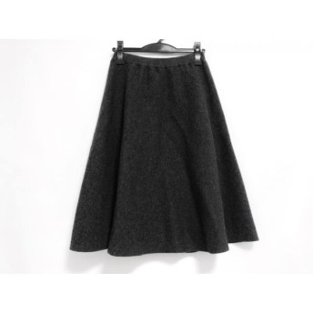 【中古】 マッキントッシュフィロソフィー スカート サイズ36 M レディース ダークグレー ニット
