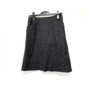【中古】 セオリー theory スカート サイズ0 XS レディース 美品 ダークグレー マルチ
