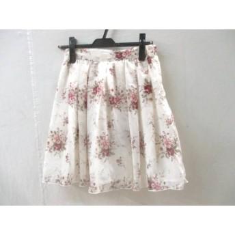 【中古】 レストローズ L'EST ROSE スカート サイズ2 M レディース ホワイト レッド