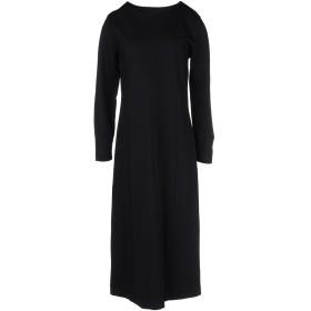 《期間限定セール中》ALPHA STUDIO レディース 7分丈ワンピース・ドレス ブラック 46 レーヨン 65% / ナイロン 31% / ポリウレタン 4%