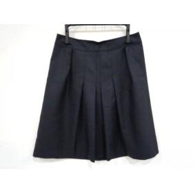 【中古】 ニジュウサンク 23区 スカート サイズ34 S レディース ダークネイビー
