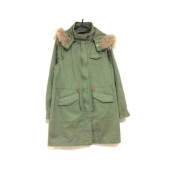 【中古】 グリーンレーベルリラクシング green label relaxing コート サイズ40 M レディース カーキ