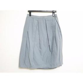【中古】 ミナペルホネン mina perhonen (mina) スカート サイズ38 M レディース ライトグレー