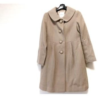 【中古】 ボンメルスリー Bon mercerie コート サイズ38 M レディース ライトブラウン 冬物