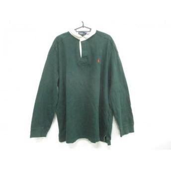 【中古】ポロラルフローレン POLObyRalphLauren 長袖ポロシャツ サイズ4L メンズ グリーンx白 新着 20180821