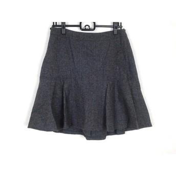 【中古】 ニジュウサンク 23区 スカート サイズ40 M レディース グレー ヘリンボーン