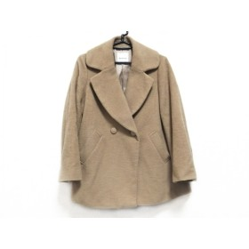 【中古】 ボンメルスリー Bon mercerie コート サイズ38 M レディース ベージュ 冬物