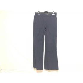 【中古】 セオリー theory パンツ サイズ0 XS レディース 黒 パープル ブルー ストライプ