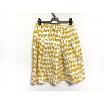 【中古】 サマンササァング SAMANTHA SUNG スカート サイズXS レディース アイボリー イエロー S.SUNG