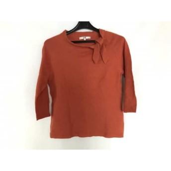 【中古】 ニジュウサンク 23区 長袖セーター サイズ38 M レディース オレンジ