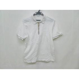 【中古】 バーバリーズ Burberry's 半袖ポロシャツ サイズMedium M レディース 白 ベージュ 黒