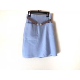 【中古】 アプワイザーリッシェ スカート サイズ0 XS レディース ライトブルー ライトブラウン
