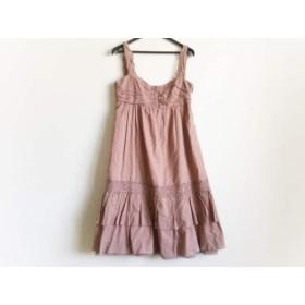 【中古】 シンシアローリー CYNTHIA ROWLEY ワンピース サイズ2 S レディース ピンクブラウン 刺繍/フリル