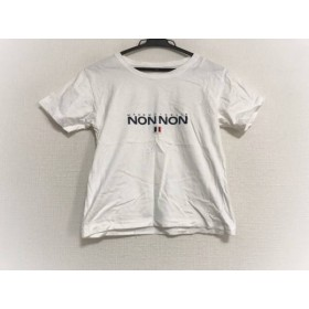 【中古】 マドモアゼルノンノン Mademoiselle NON NON 半袖Tシャツ レディース 白 ネイビー マルチ