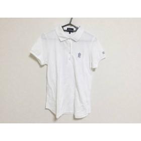 【中古】 パーリーゲイツ PEARLY GATES 半袖ポロシャツ サイズ0 XS レディース 白 グレー