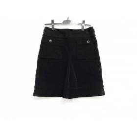 【中古】 バーバリーブルーレーベル スカート サイズ38 M レディース 黒 コーデュロイ