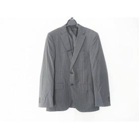 【中古】 グリーンレーベルリラクシング ジャケット サイズ46 XL メンズ 美品 ダークグレー 白