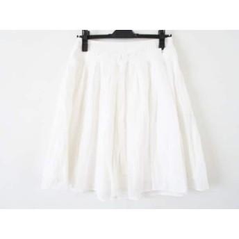 【中古】 バーバリーブルーレーベル Burberry Blue Label スカート サイズ38 M レディース 白 リボン