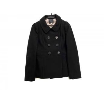 【中古】 シンシアローリー CYNTHIA ROWLEY コート サイズ2 S レディース 黒 冬物