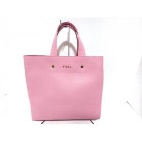 【中古】 フルラ FURLA トートバッグ 美品 ピンク レザー