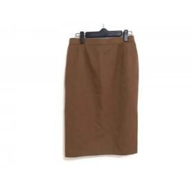 【中古】 ダックス DAKS スカート サイズ72〜76 レディース ダークブラウン