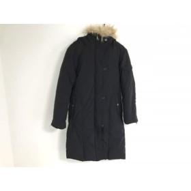 【中古】 ダナキャラン DKNY ダウンコート サイズ4 XL レディース 黒 冬物