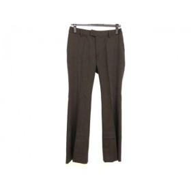 【中古】 ニジュウサンク 23区 パンツ サイズ40 M レディース 美品 ダークブラウン
