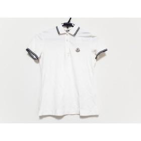 【中古】 モンクレール MONCLER 半袖ポロシャツ サイズS レディース アイボリー ダークネイビー