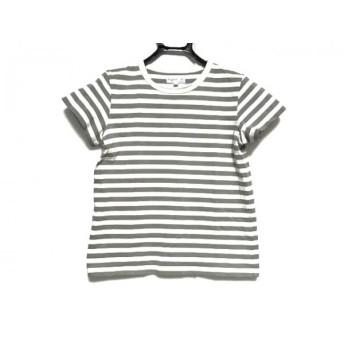 【中古】 アニエスベー agnes b 半袖Tシャツ サイズT1 レディース 白 グレー ボーダー