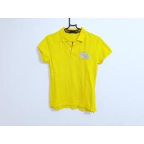 【中古】 ラルフローレン RalphLauren 半袖ポロシャツ サイズL レディース - イエロー グレー