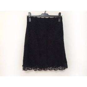 【中古】 ミュベール MUVEIL スカート レディース 美品 黒 Muguet Fifth Avenue/レース/花柄