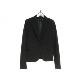 【中古】 クイーンズコート QUEENS COURT ジャケット サイズ1 S レディース 黒