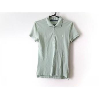 【中古】 ラルフローレン RalphLauren 半袖ポロシャツ サイズS メンズ ライトグリーン