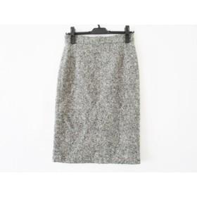 【中古】 ウィムガゼット whim gazette スカート サイズ36 S レディース 黒 白