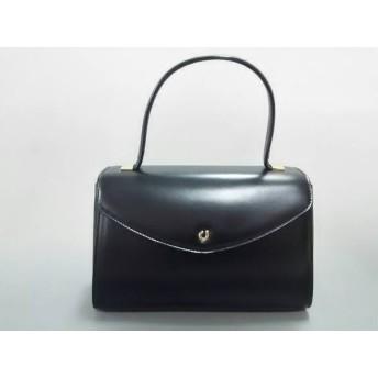 【中古】 シャルルジョルダン CHARLESJOURDAN ハンドバッグ 美品 黒 レザー