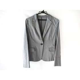 【中古】 グリーンレーベルリラクシング green label relaxing ジャケット サイズ38 M レディース グレー