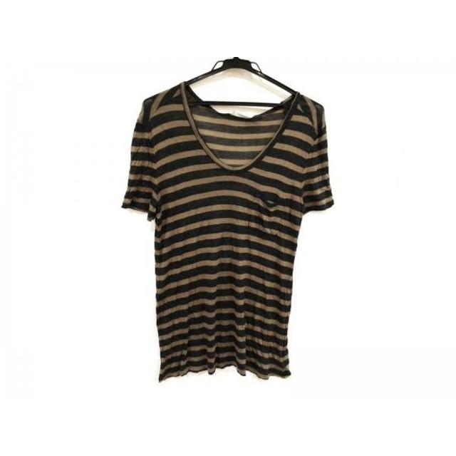 【中古】 アレキサンダーワン TbyALEXANDER WANG 半袖Tシャツ サイズXS レディース 黒 ブラウン ボーダー