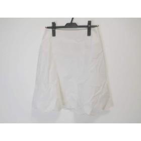 【中古】 エムズグレイシー M'S GRACY スカート サイズ40 M レディース 白